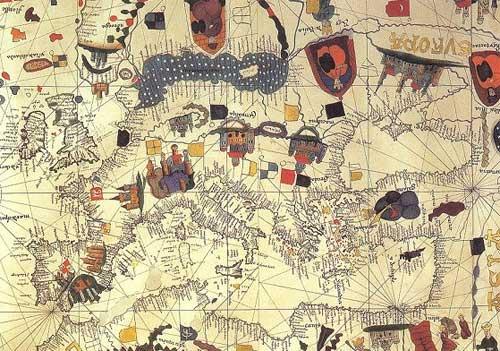 Mapa de Europa en el siglo XV