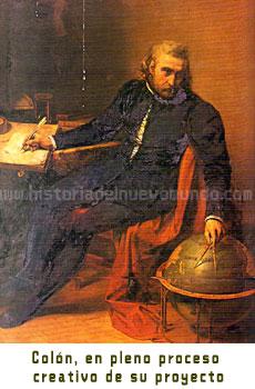 Cristóbal Colón analizando su proyecto