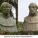 Bustos de Fray Juan Pérez y Antonio de Marchena en el Monasterio de la Rábida
