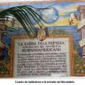Cuadro de baldosines en la entra del Monasterio de la Rábida