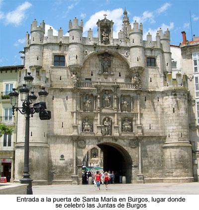 Puerta de Santa María en Burgos