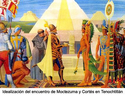 Encuentro de Moctezuma y Hernán Cortés