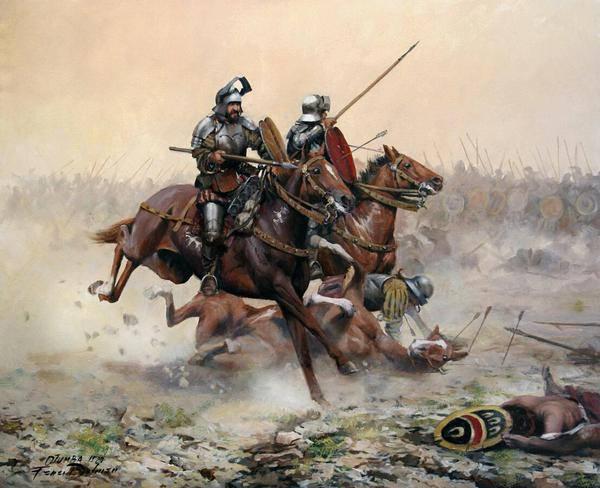 Batalla de Otumba por Ferrer Dalmau