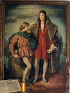 Retrato de Diego Colón junto a su padre Cristóbal Colón