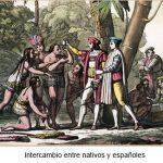 """Leyenda negra: """"Los indios eran engañados por los españoles al cambiar cuentas de colores y espejitos a cambio de oro"""""""