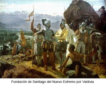 Fundación de Santiago del Extremo por Pedro de Valdivia