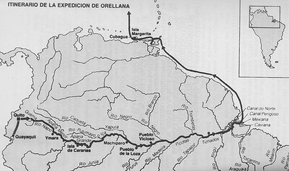 4468 mapa orellana - Francisco de Orellana