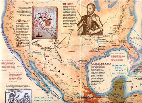Mapa de Norteamérica en el siglo XVI