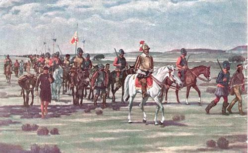 Ilustración de la expedición de Francisco Vázquez de Coronado