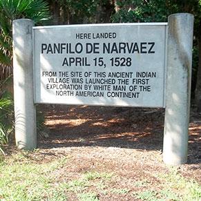 Pánfilo de Narváez y Cabeza de Vaca, exploración del Sur de Estados Unidos