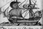 Paquebote de correo de siglo XVII