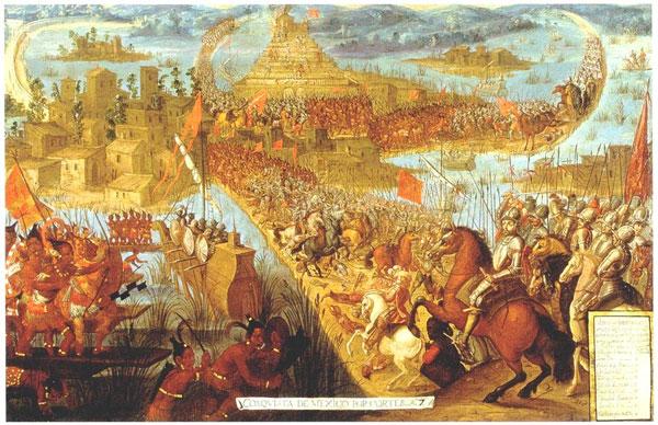 Caída de Tenochtitlán en manos de los españoles