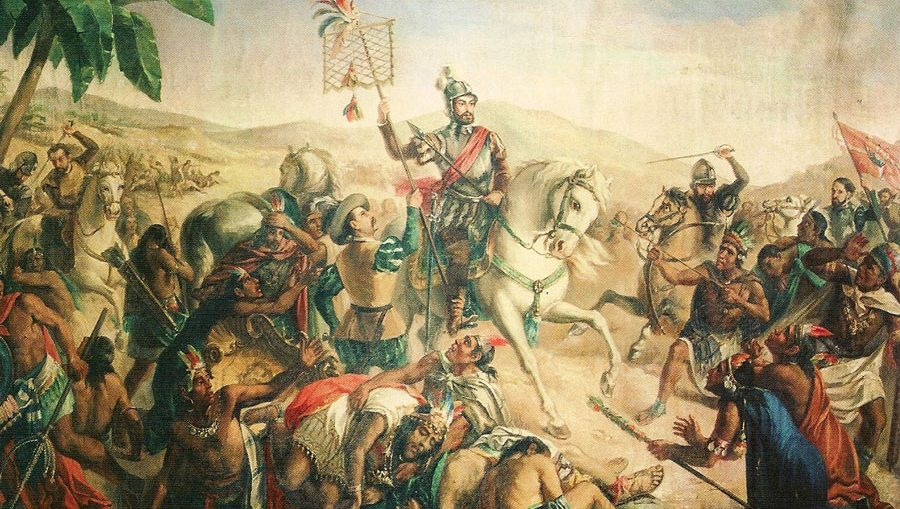Hernán Cortés durante la Conquista de México