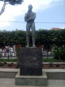 Estatua Simón Bolívar en Tenerife