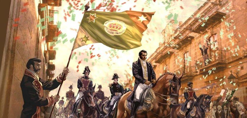 Entrada de Iturbide a Ciudad de México a la cabeza del Ejército Trigarante