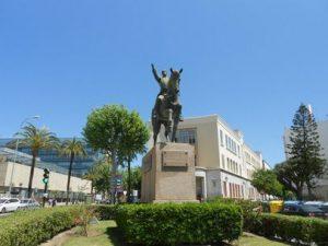 Estatua de Simón Bolívar en Cádiz