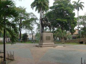 Estatua de Simón Bolívar en Barcelona