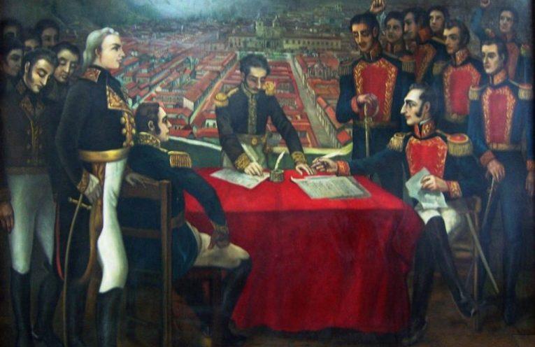 Capitulación realista en la batalla de Pichincha