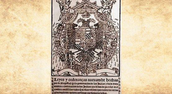 Portada de las Leyes Nuevas de Indias de 1542