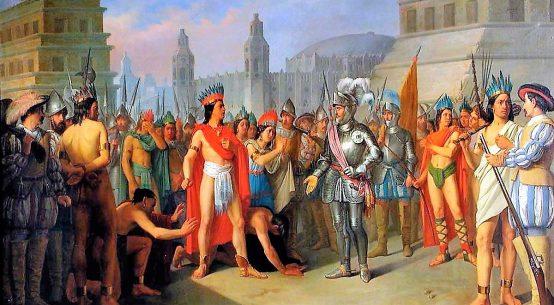 Encuentro entre Moctezuma y Hernán Cortés