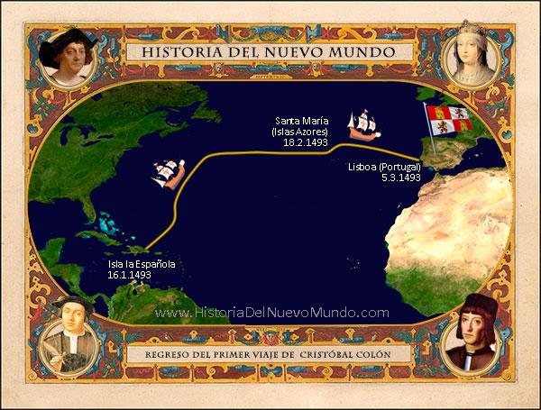 Viaje de regreso del primer viaje de Colón al Nuevo Mundo