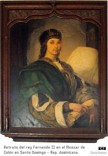 Retrato de Fernando II de Aragón en el Alcázar de Colón de Santo Domingo - República Dominicana