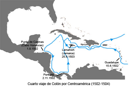 Fourth voyage of Columbus to the Indies