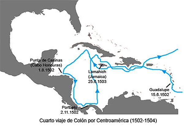 Cuarto viaje de Colón al Nuevo Mundo: primera expedición por ...