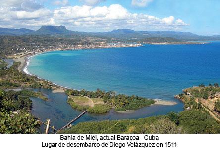 Vista de la bahía Miel de Baracoa