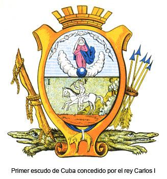 Primer escudo de Cuba 1517