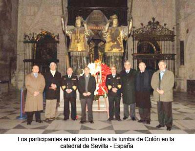 Acto conmemorativo llegada de restos de Colón a Sevilla