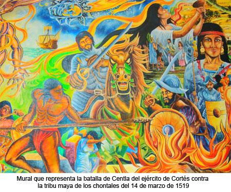 Mosaico de la batalla de Centla