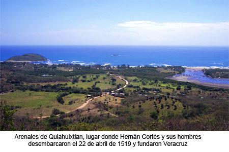 Arenales de Quiahuixtlan. Lugar de fundación de Veracruz