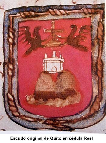 Escudo original de Quito
