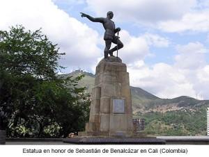 Estatua a Sebastián de Benalcázar en Cali