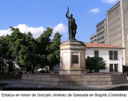 Estatua a Gonzalo Jiménez de Quesada en Bogotá