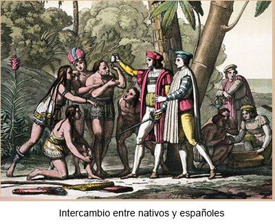 Intercambio entre indios y españoles