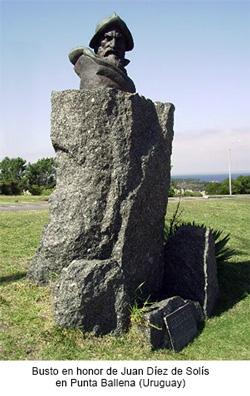 Busto Juan Díaz de Solís, descubridor del Río de la Plata