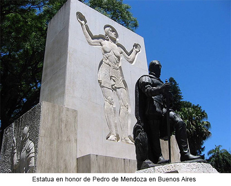 Estatua de Pedro de Mendoza en Buenos Aires