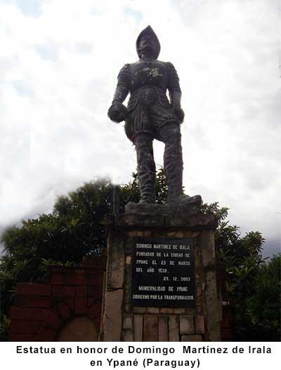 Estatua en honor de Martínez de Irala en Ypané - Paraguay