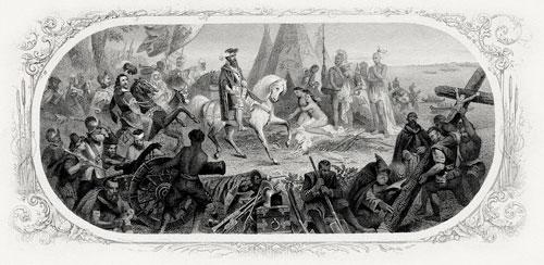 Hernando de Soto descubriendo el Mississippi