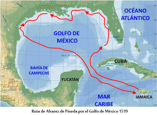 Golfo De Mexico Map.Francisco De Garay Expeditions Along The Gulf Of Mexico Coast