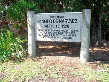 Lugar de desembarco de la expedición de Pánfilo de Narváez en Florida