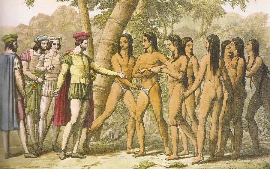 Españoles e indígenas