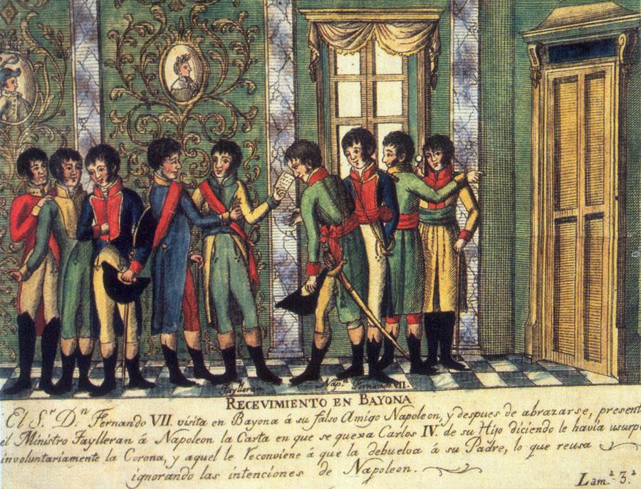 Abdicaciones de Bayona - Independencias latinoamericanas