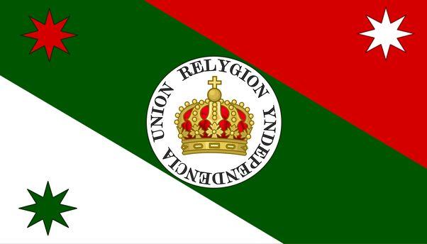 Bandera Trigarante de Agustín de Iturbide