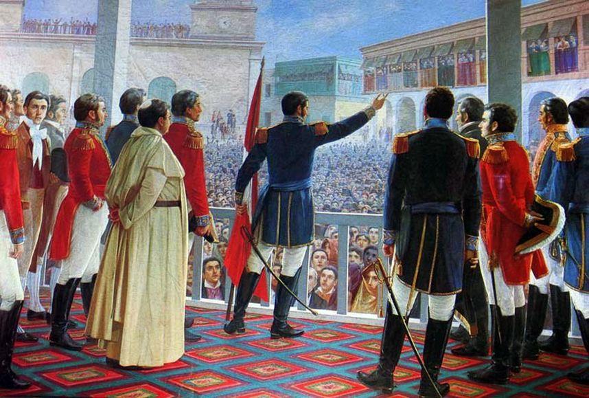 San Martín declara la independencia del Perú