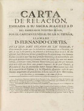 Cartas de Relación de Hernán Cortés